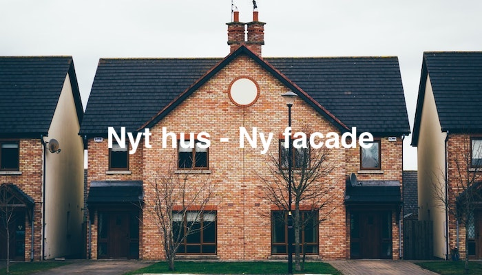 nyt hus - ny facade